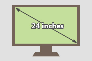 24 inches tv