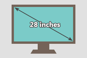 28 inches tv