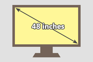 48 inches tv