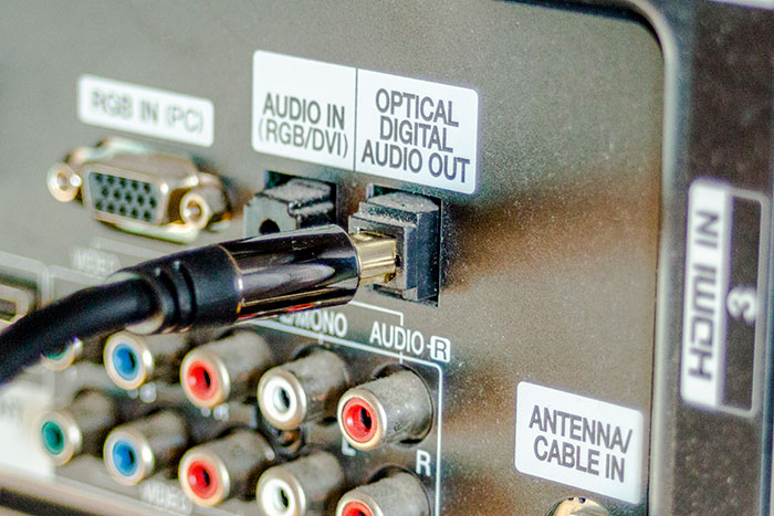 connecting the optical cable into your Television