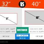 32 vs 40 inch TV