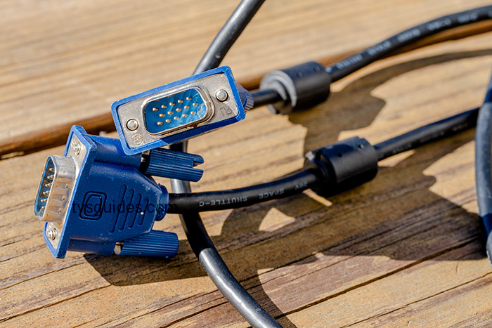 Blue VGA cable