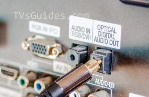 Connecting an optical digital cable to TV port